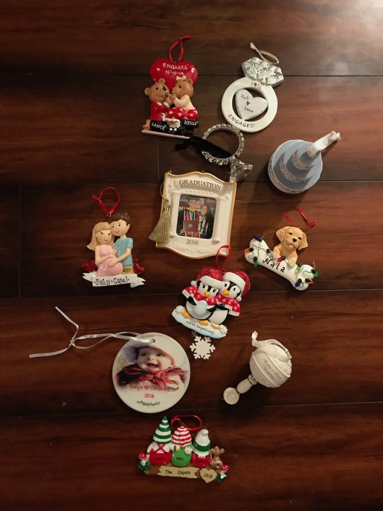 Christmas ornaments that hold important milestones for a family