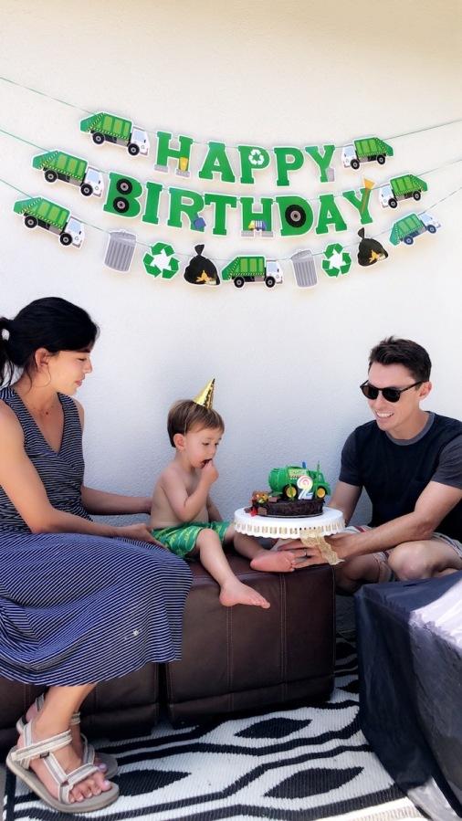 Hudson's 2nd Birthday Party: Trash TruckTheme